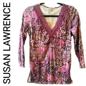 🆕 SUSAN LAWRENCE BLOUSE - PINK NWT